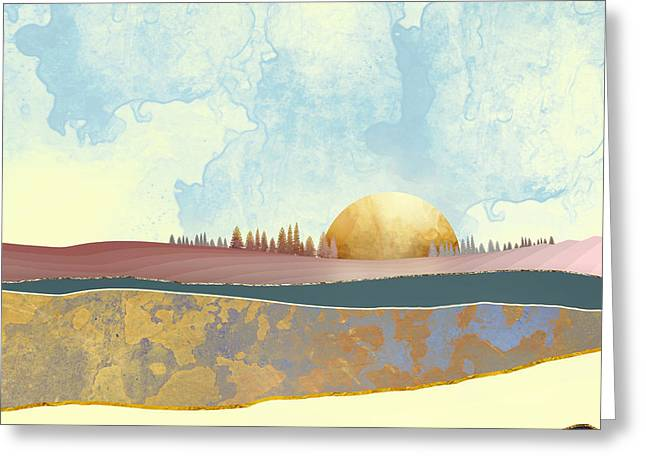 Hazy Afternoon Greeting Card by Katherine Smit