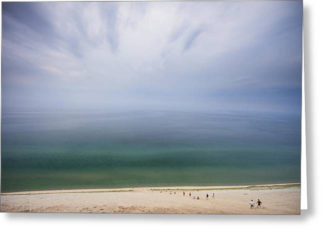 Hazy Day At Sleeping Bear Dunes Greeting Card by Adam Romanowicz