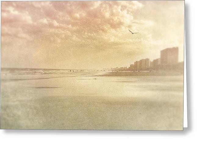 Hazy Day At The Beach Greeting Card