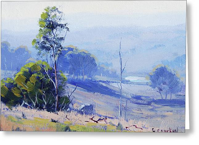 Hazy Light Mudgee Greeting Card by Graham Gercken
