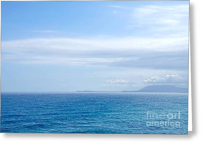 Hazy Ocean View Greeting Card by Kaye Menner