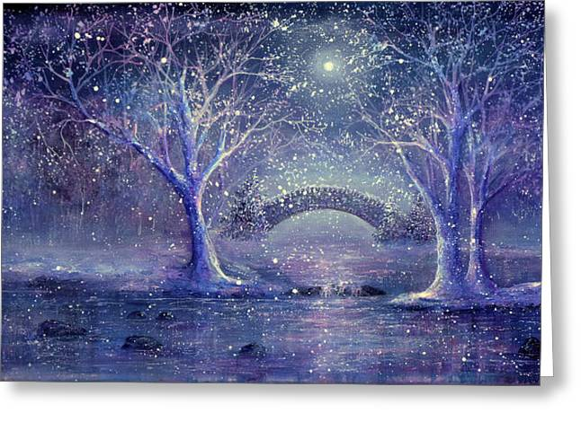 Hazy Shade Of Winter Greeting Card by Ann Marie Bone