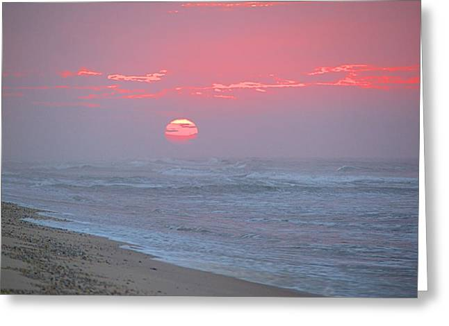 Hazy Sunrise I I Greeting Card