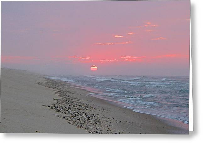 Greeting Card featuring the photograph Hazy Sunrise by  Newwwman