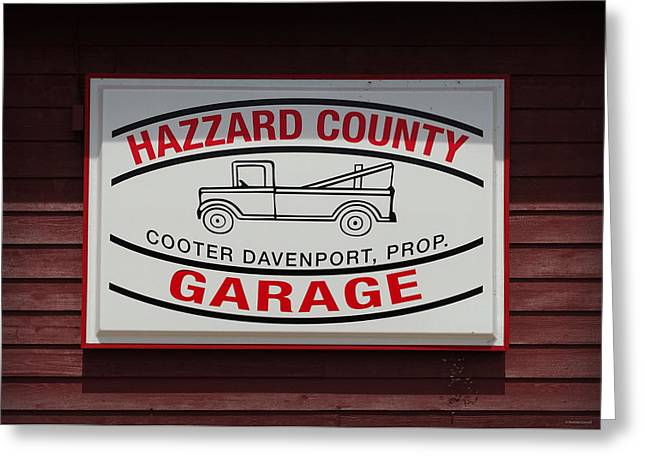 Hazzard County Garage Greeting Card