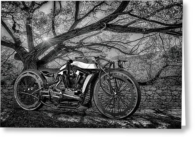 Greeting Card featuring the photograph Hd Cafe Racer  by Louis Ferreira