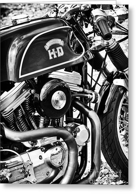 Hd Cafe Racer Monochrome Greeting Card