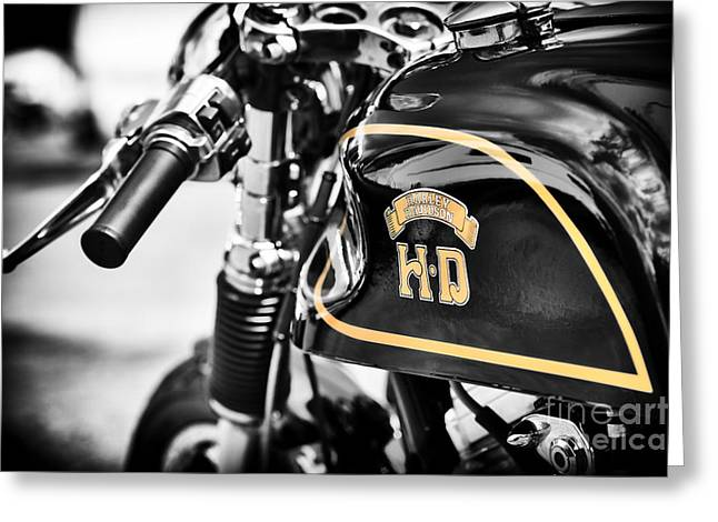 Hd Cafe Racer Greeting Card