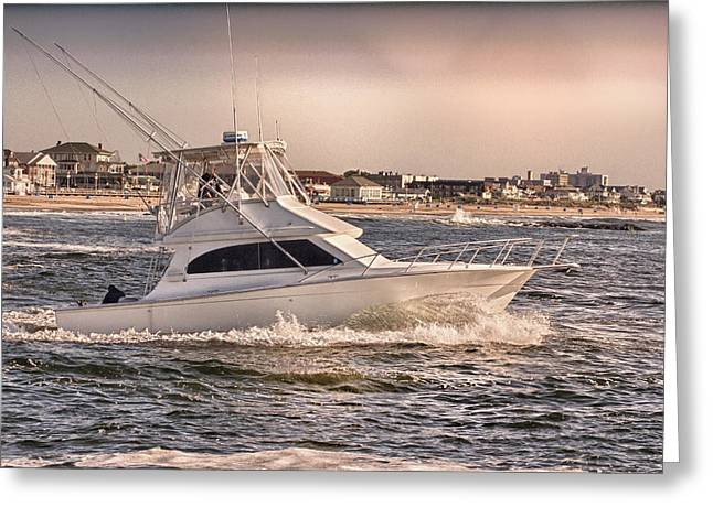 Hdr Fishing Boat Ocean Beach Beachtown Boadwalk Scenic Photography Photos Pictures Boating Sea Pics Greeting Card by Pictures HDR