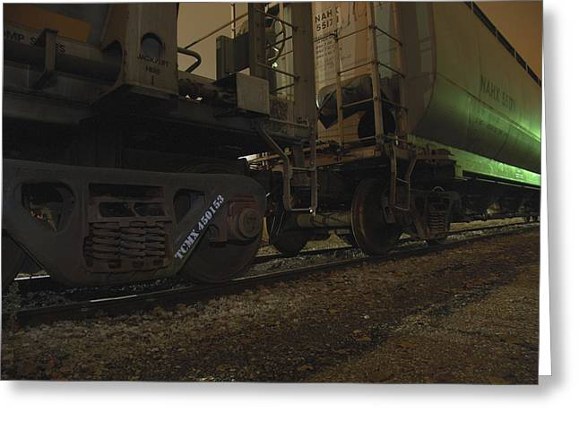 Hdr Rail Cars Greeting Card by Scott Hovind
