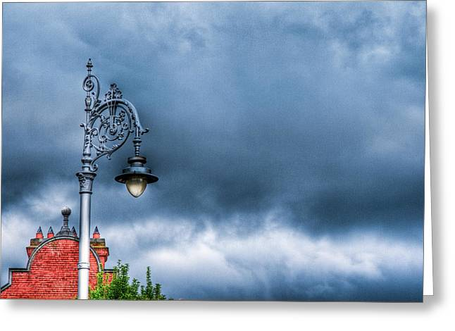 Hdr Street Lamp Greeting Card