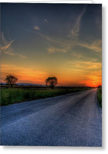 Hdr Sunset Greeting Card