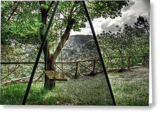 Hdr Swing Greeting Card