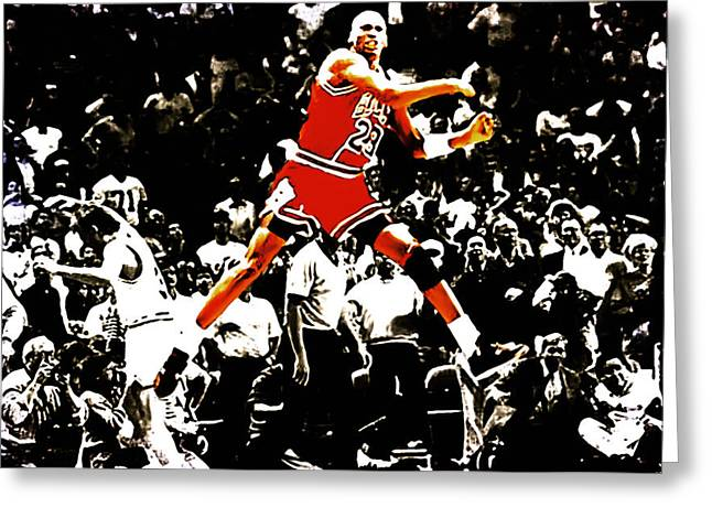 Michael Jordan Sweet Victory Greeting Card