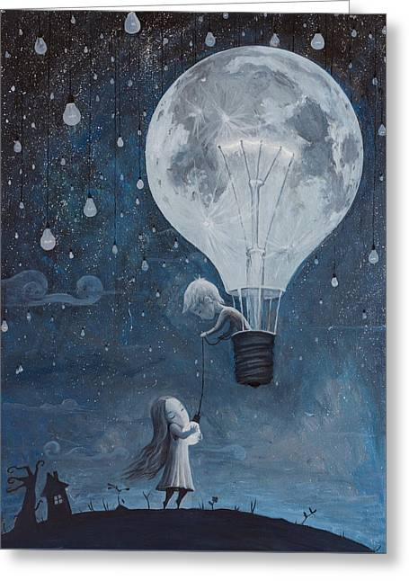 He Gave Me The Brightest Star Greeting Card by Adrian Borda