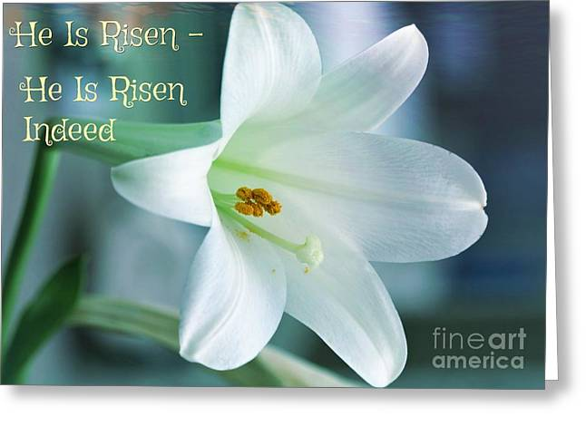 He Is Risen Easter Celebration Greeting Card