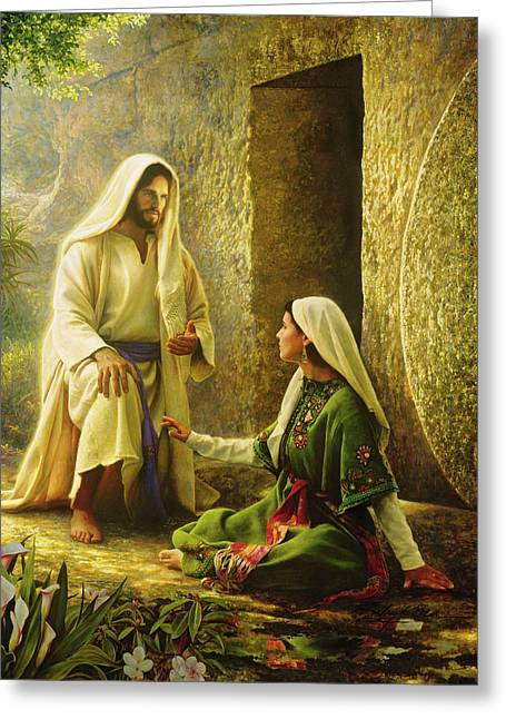 Touch Greeting Cards - He is Risen Greeting Card by Greg Olsen