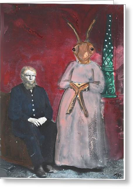 He Married A Cockroach  Greeting Card