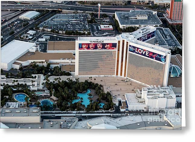 he Mirage Hotel on the Strip, Las Vegas Greeting Card