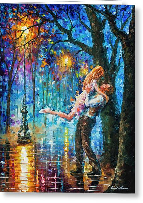 He Proposal  Greeting Card by Leonid Afremov