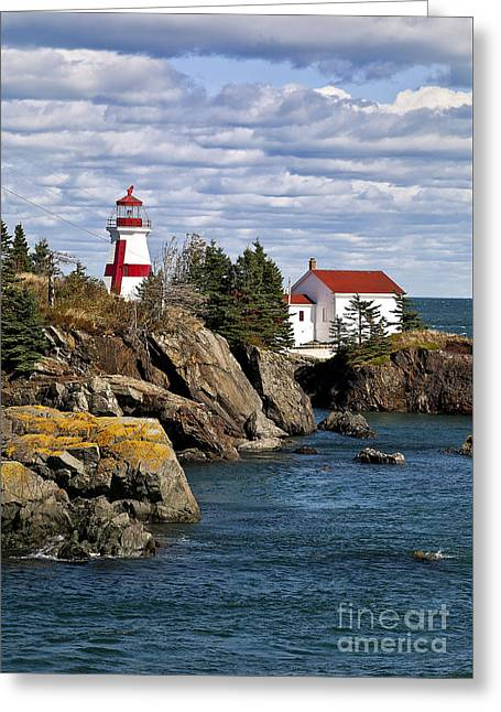Head Harbour Lighthouse Greeting Card by John Greim