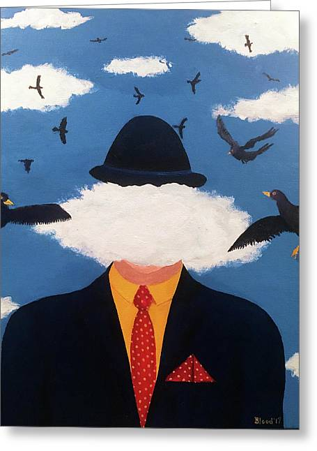 Head In The Cloud Greeting Card