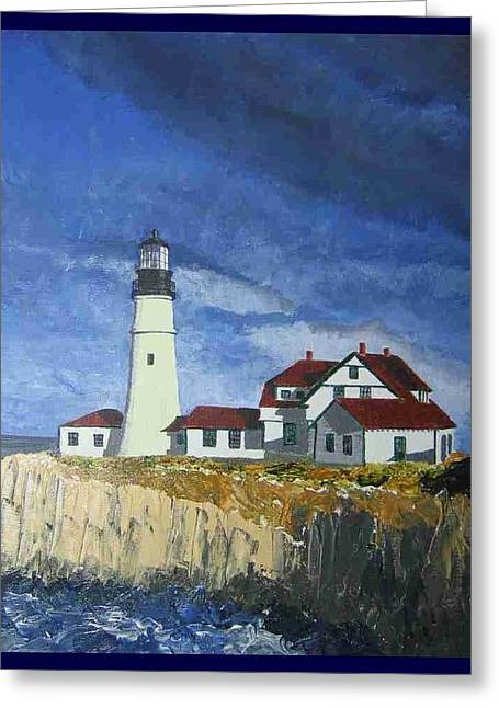 Head Lighthouse  Greeting Card