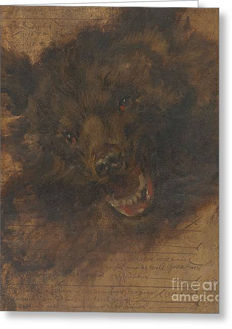 Head Of A Bear Greeting Card by Celestial Images