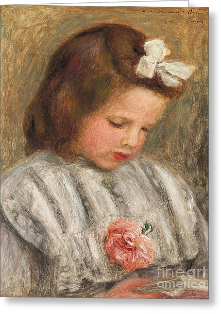Head Of A Girl, Tete De Fillette Greeting Card