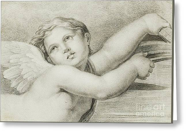 Head Of A Putto  Greeting Card