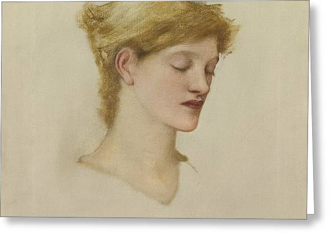 Head Of A Woman Greeting Card by Celestial Images