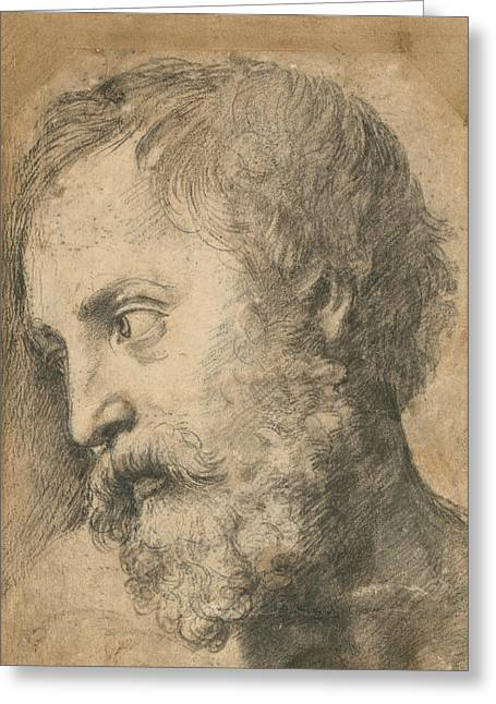 Head Of An Apostle In The Transfiguration Greeting Card