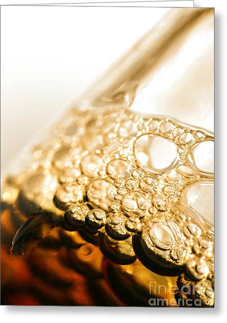 Head Of Beer Greeting Card by Jorgo Photography - Wall Art Gallery