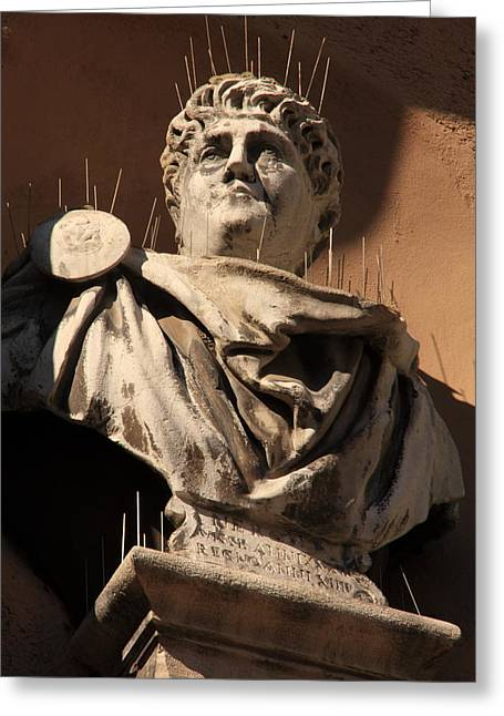 Head Of Nero In Venice Greeting Card by Michael Henderson