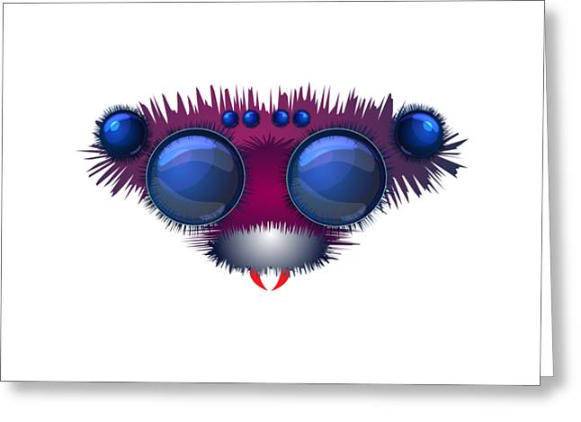 Head Of The Big Hairy Spider Greeting Card by Michal Boubin