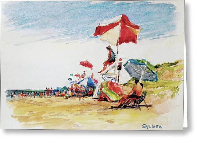 Head  Of The Meadow Beach, Afternoon Greeting Card by Peter Salwen