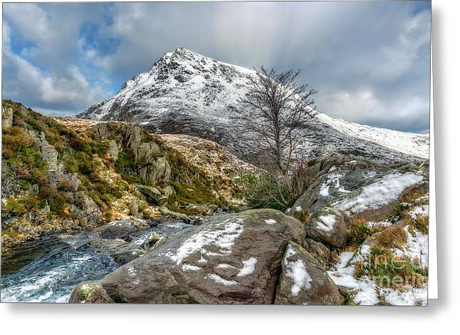 Head Of The White Slope Greeting Card by Adrian Evans
