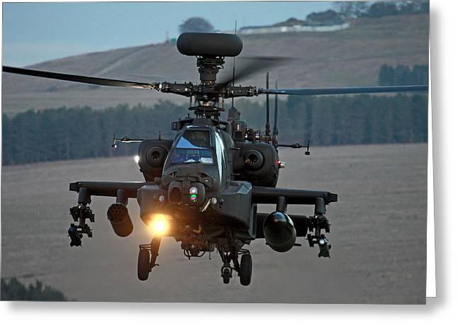 Head On Ah64 Apache Greeting Card