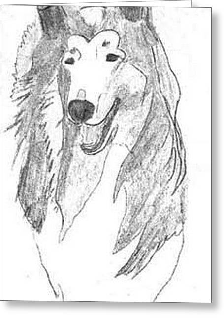 Head Sketch Greeting Card by Wendy Jackson