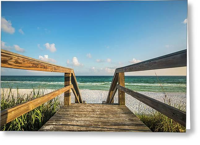 Head To The Beach Greeting Card by Sean Ramsey