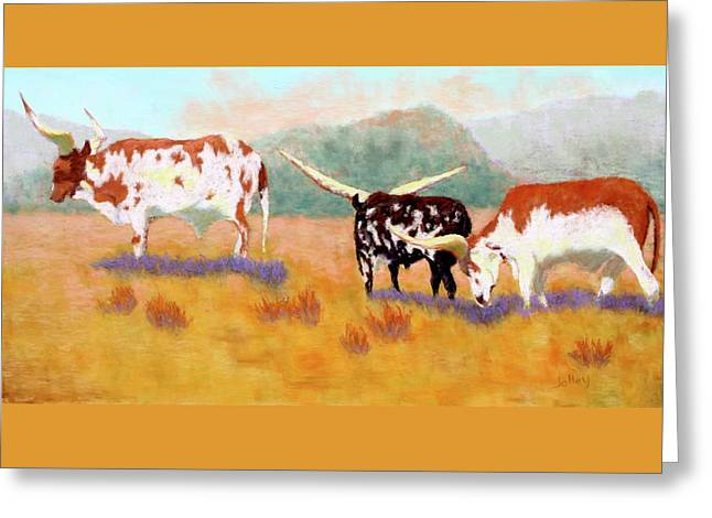 Headed For The Barn Greeting Card by Nancy Jolley