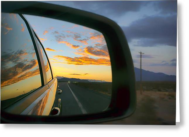 Heading East In The West - Nevada Sunset Greeting Card