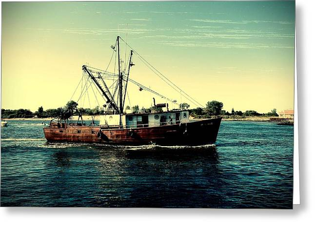 Heading Out - Jersey Shore Greeting Card by Angie Tirado