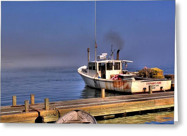 Greeting Card featuring the photograph Heading Out To Sea by Greg DeBeck