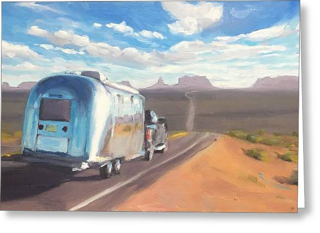 Heading South Towards Monument Valley Greeting Card