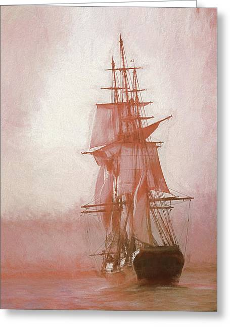 Greeting Card featuring the photograph Heading To Salem From The Sea by Jeff Folger