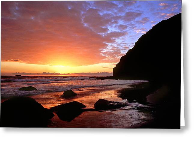 Headlands At Sunset Greeting Card