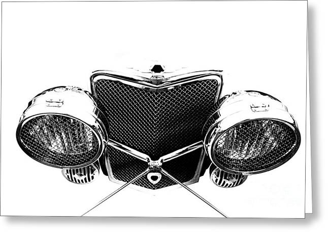 Greeting Card featuring the photograph Headlights by Stephen Mitchell
