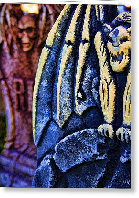 Headstones Greeting Card by Ricky Barnard