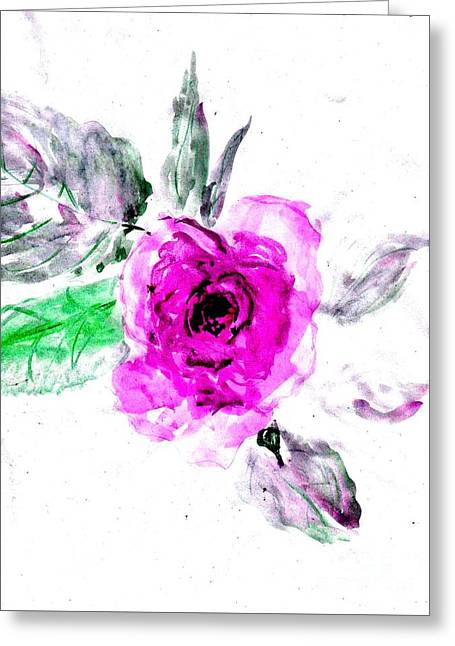 Healin Roses- 16 Greeting Card by Sweeping Girl